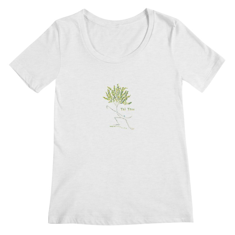 Tai Tree sprig Women's Regular Scoop Neck by Family Tree Artist Shop