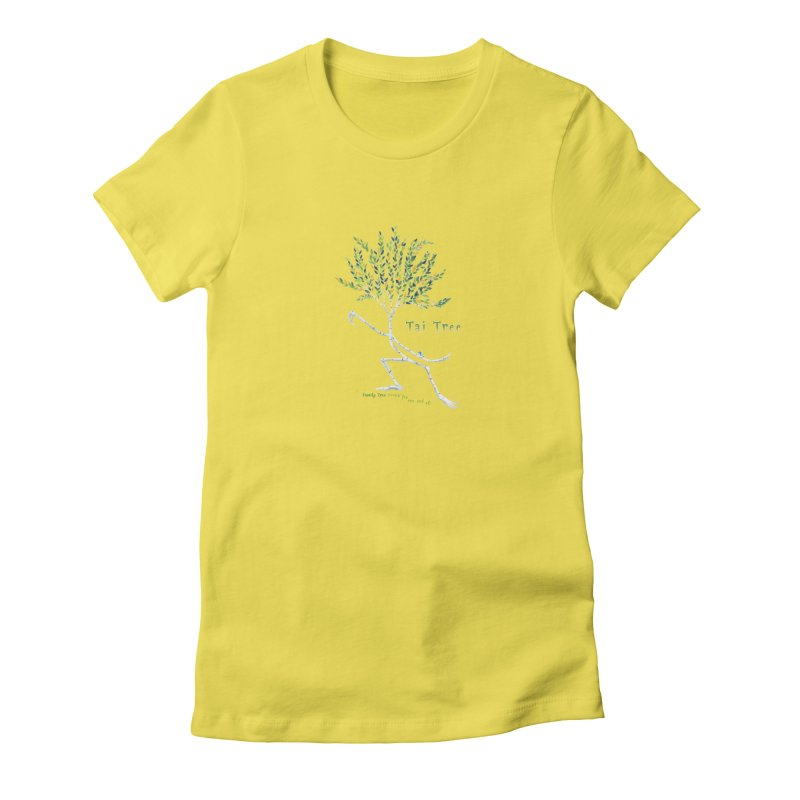 Tai Tree sprig Women's Fitted T-Shirt by Family Tree Artist Shop