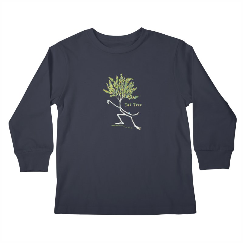 Tai Tree sprig Kids Longsleeve T-Shirt by Family Tree Artist Shop
