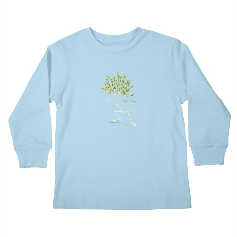 Tai Tree sprig Kids Longsleeve T-Shirt by Family Tree Artist Shop