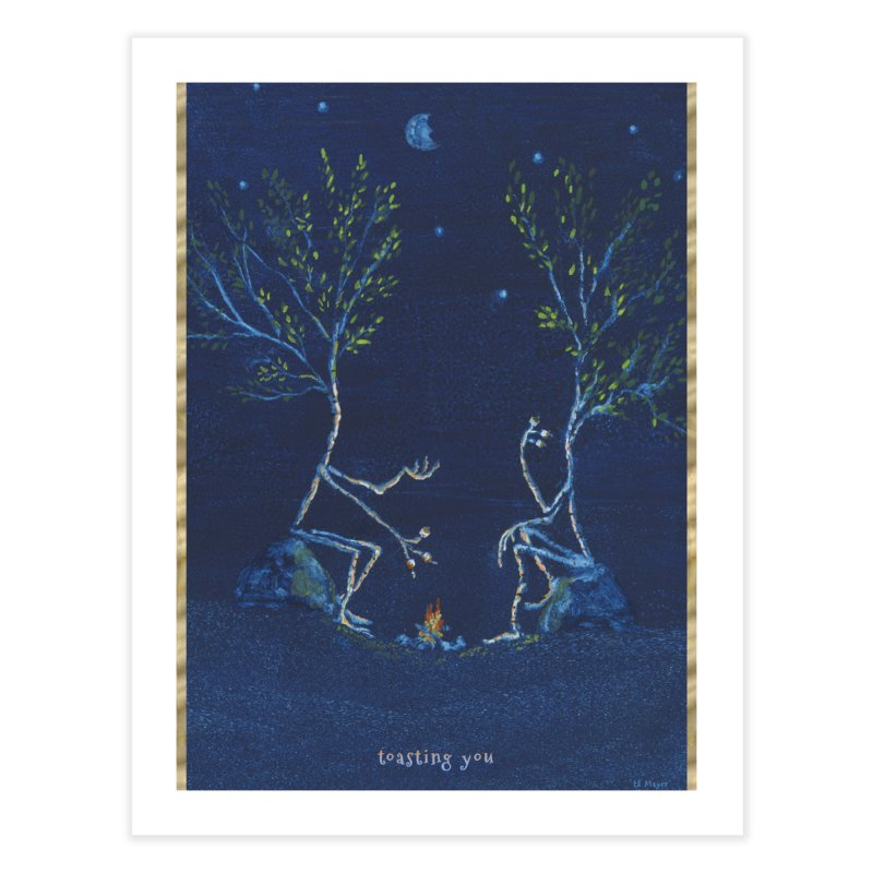 toasting you Home Fine Art Print by Family Tree Artist Shop