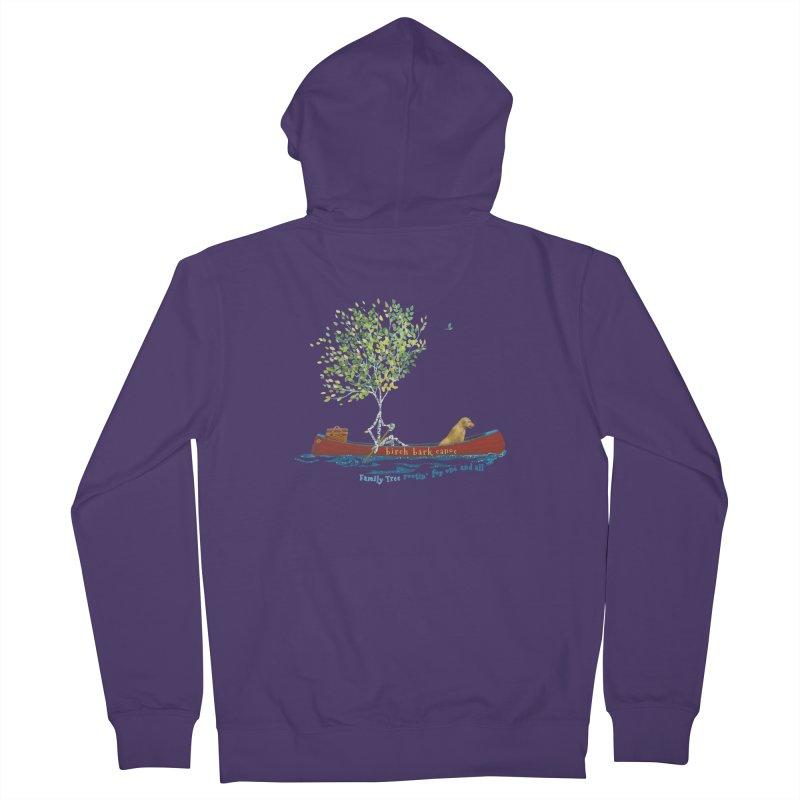 Birch Bark Canoe Women's Zip-Up Hoody by Family Tree Artist Shop
