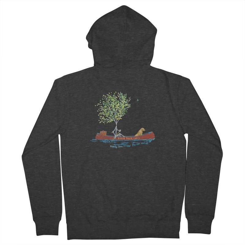 Birch Bark Canoe Men's French Terry Zip-Up Hoody by Family Tree Artist Shop