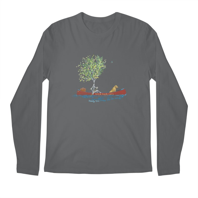 Birch Bark Canoe Men's Longsleeve T-Shirt by Family Tree Artist Shop