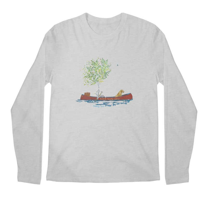 Birch Bark Canoe Men's Regular Longsleeve T-Shirt by Family Tree Artist Shop