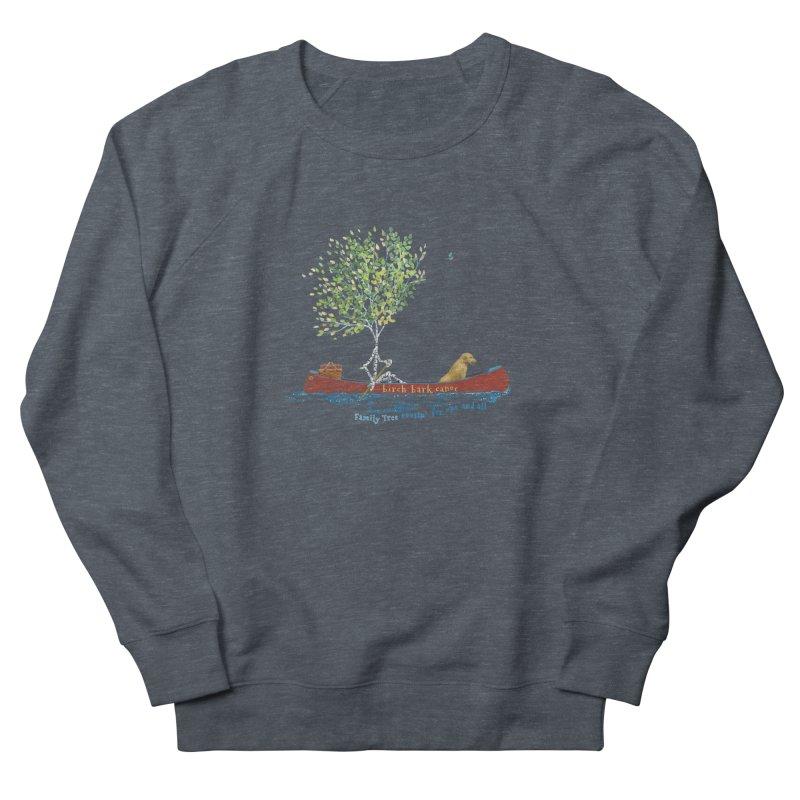 Birch Bark Canoe Women's French Terry Sweatshirt by Family Tree Artist Shop