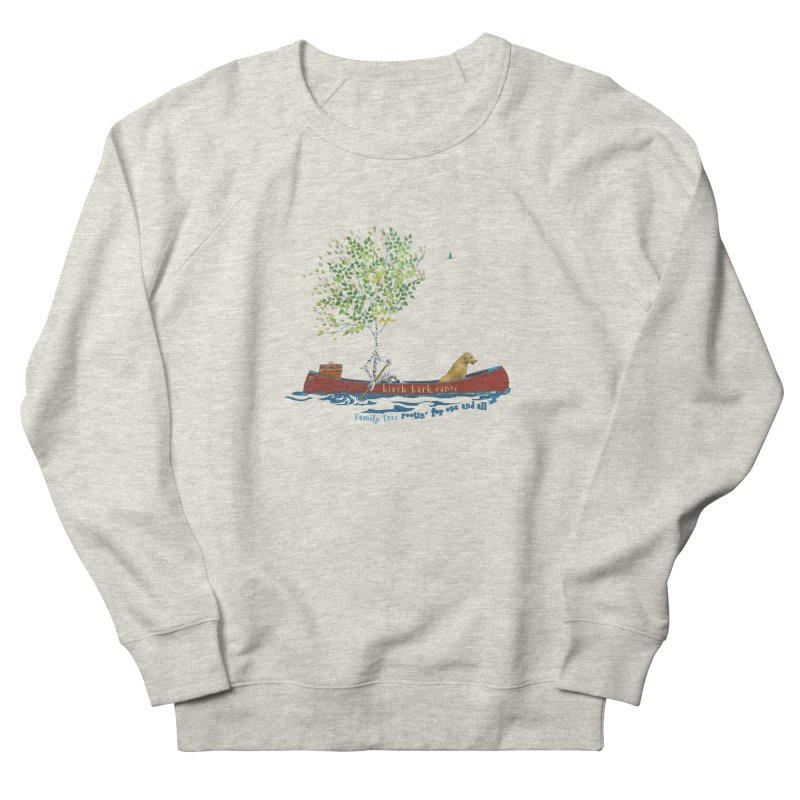 Birch Bark Canoe Women's French Terry Sweatshirt by Family Tree Artist Shop