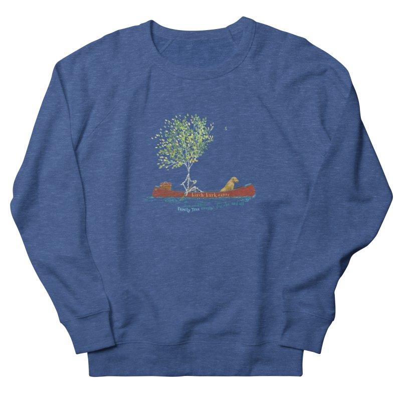 Birch Bark Canoe Men's Sweatshirt by Family Tree Artist Shop
