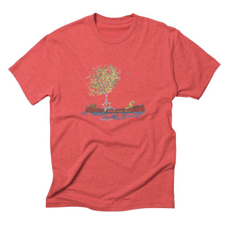 Birch Bark Canoe Men's T-Shirt by Family Tree Artist Shop
