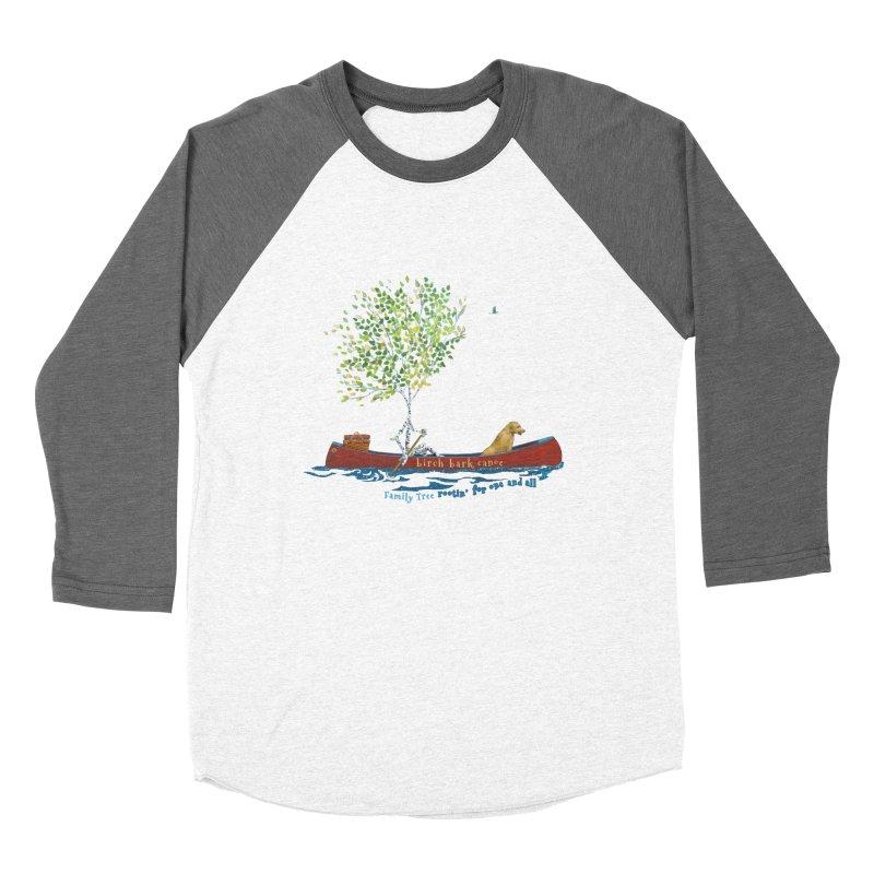 Birch Bark Canoe Men's Baseball Triblend Longsleeve T-Shirt by Family Tree Artist Shop