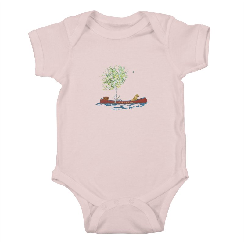 Birch Bark Canoe Kids Baby Bodysuit by Family Tree Artist Shop