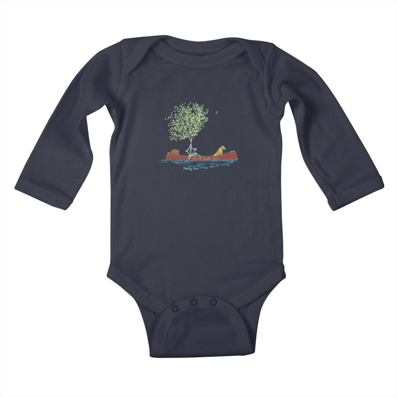 Birch Bark Canoe Kids Baby Longsleeve Bodysuit by Family Tree Artist Shop
