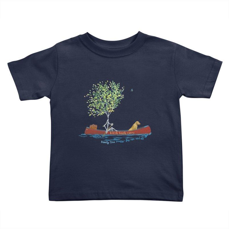 Birch Bark Canoe Kids Toddler T-Shirt by Family Tree Artist Shop