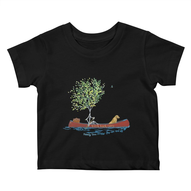 Birch Bark Canoe Kids Baby T-Shirt by Family Tree Artist Shop
