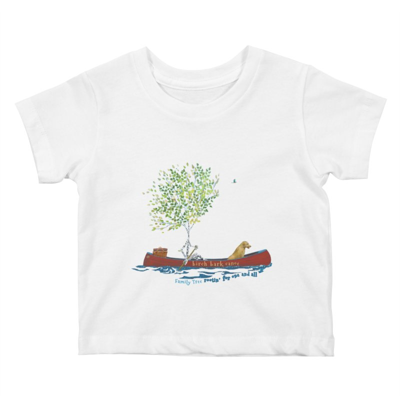Birch Bark Canoe Kids Baby T-Shirt by Family Tree Artist Shop