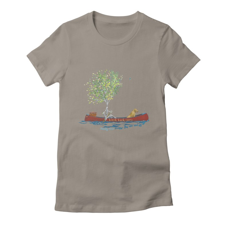 Birch Bark Canoe Women's T-Shirt by Family Tree Artist Shop