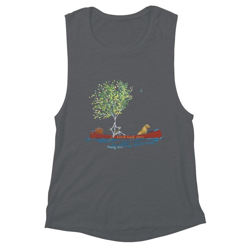 Birch Bark Canoe Women's Tank by Family Tree Artist Shop