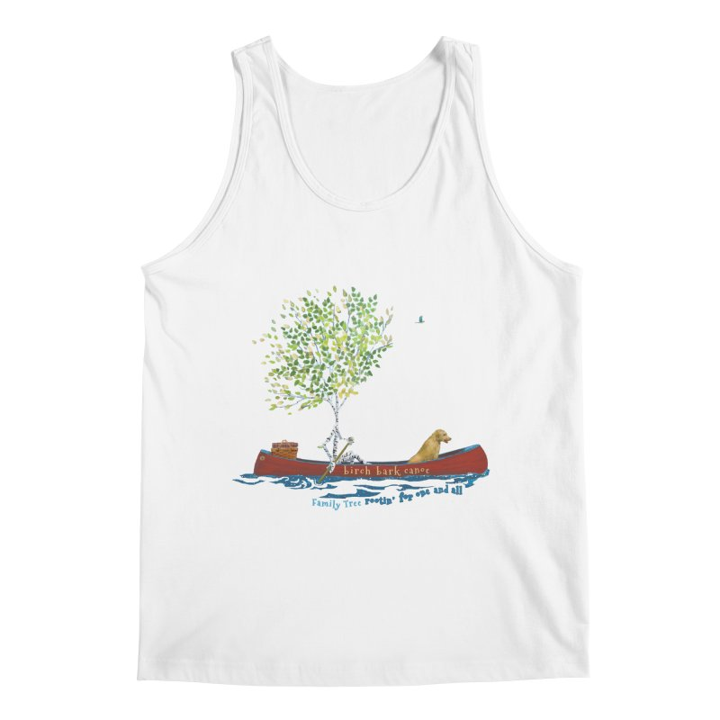 Birch Bark Canoe Men's Tank by Family Tree Artist Shop