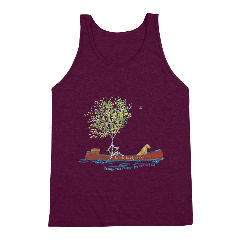 Birch Bark Canoe Men's Triblend Tank by Family Tree Artist Shop