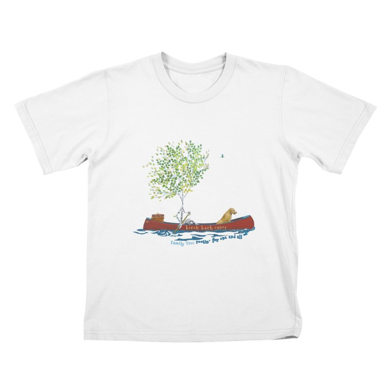 Birch Bark Canoe Kids T-Shirt by Family Tree Artist Shop
