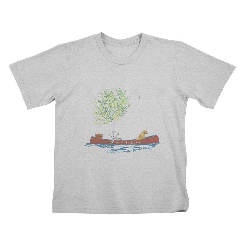 Birch Bark Canoe Kids T-Shirt by Family Tree Artist Shop