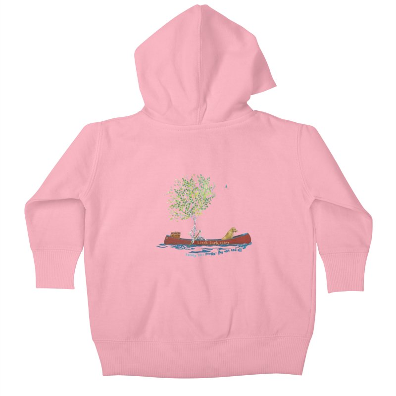 Birch Bark Canoe Kids Baby Zip-Up Hoody by Family Tree Artist Shop