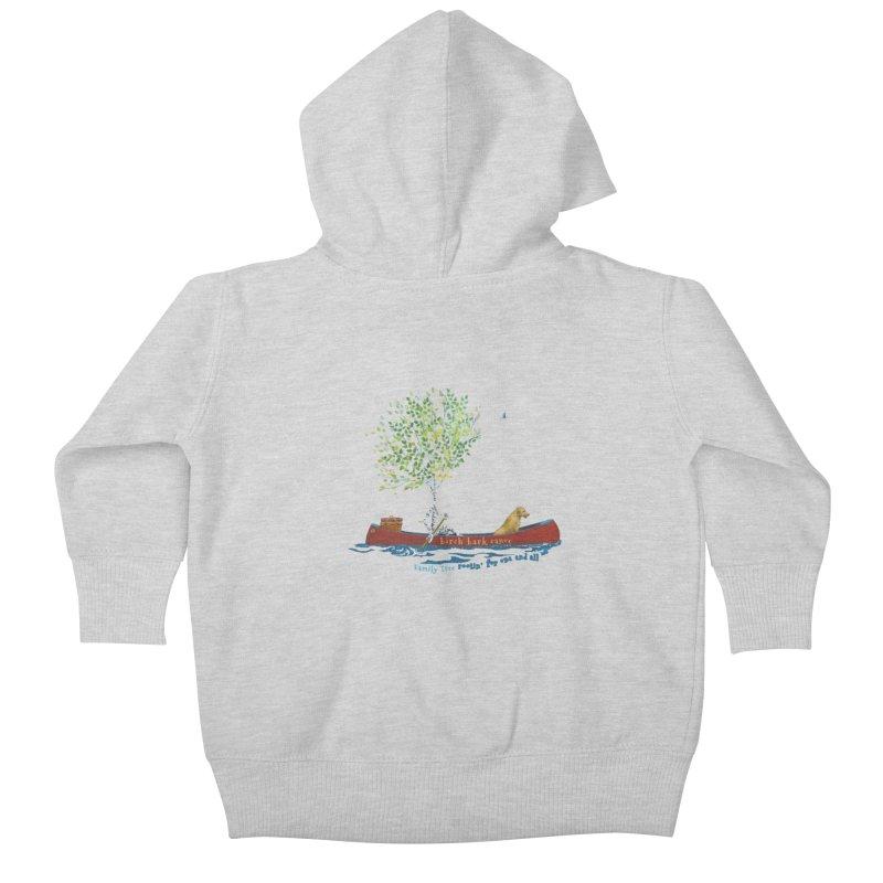 Birch Bark Canoe Kids Baby Zip-Up Hoody by Family Tree Artist Shop
