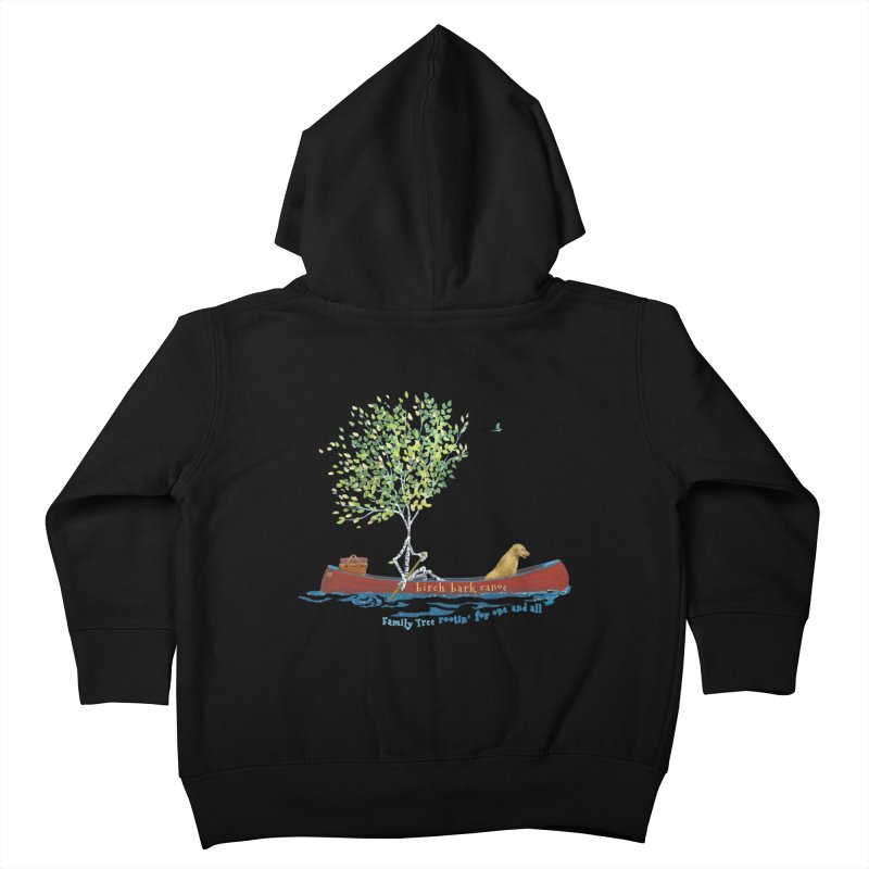Birch Bark Canoe Kids Toddler Zip-Up Hoody by Family Tree Artist Shop