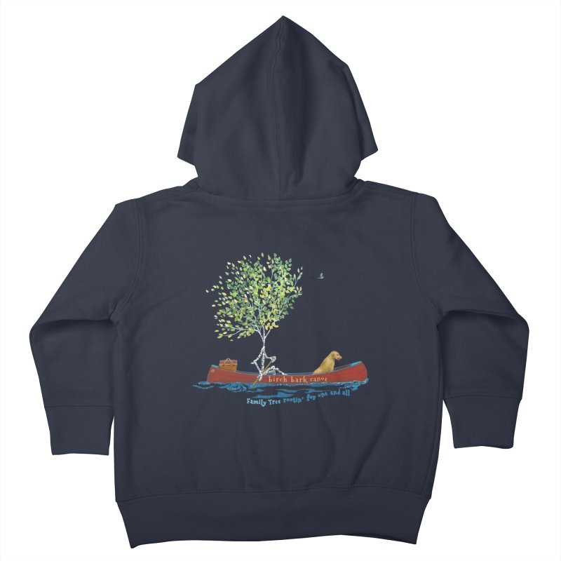 Birch Bark Canoe Kids Toddler Zip-Up Hoody by Family Tree Artist Shop