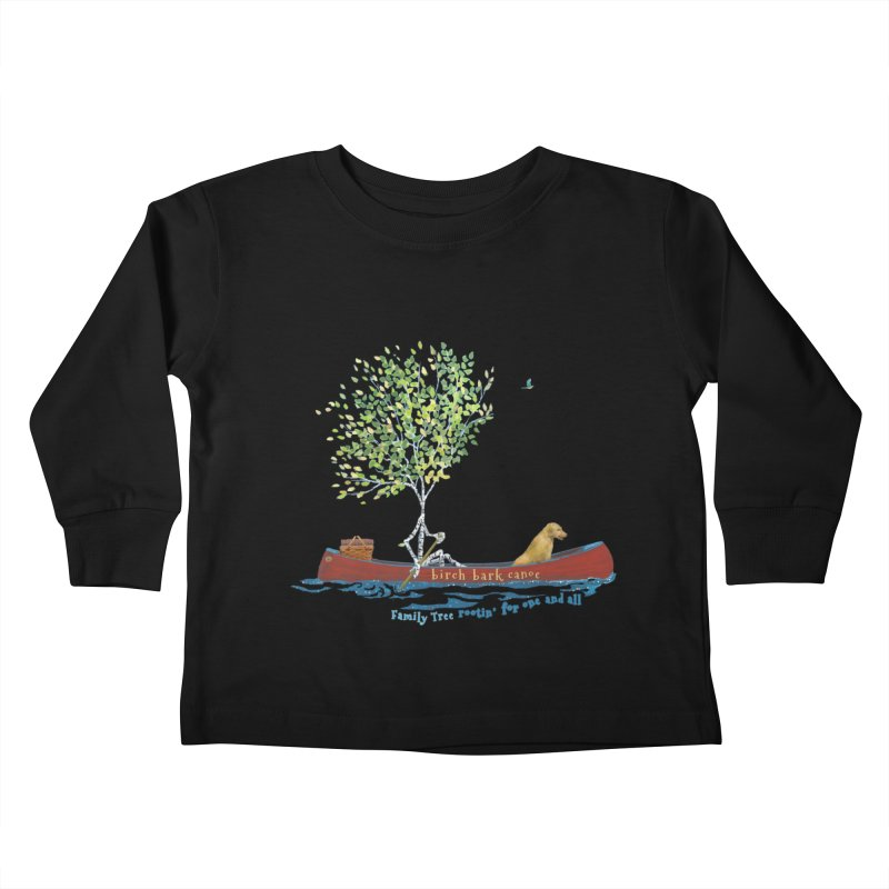Birch Bark Canoe Kids Toddler Longsleeve T-Shirt by Family Tree Artist Shop