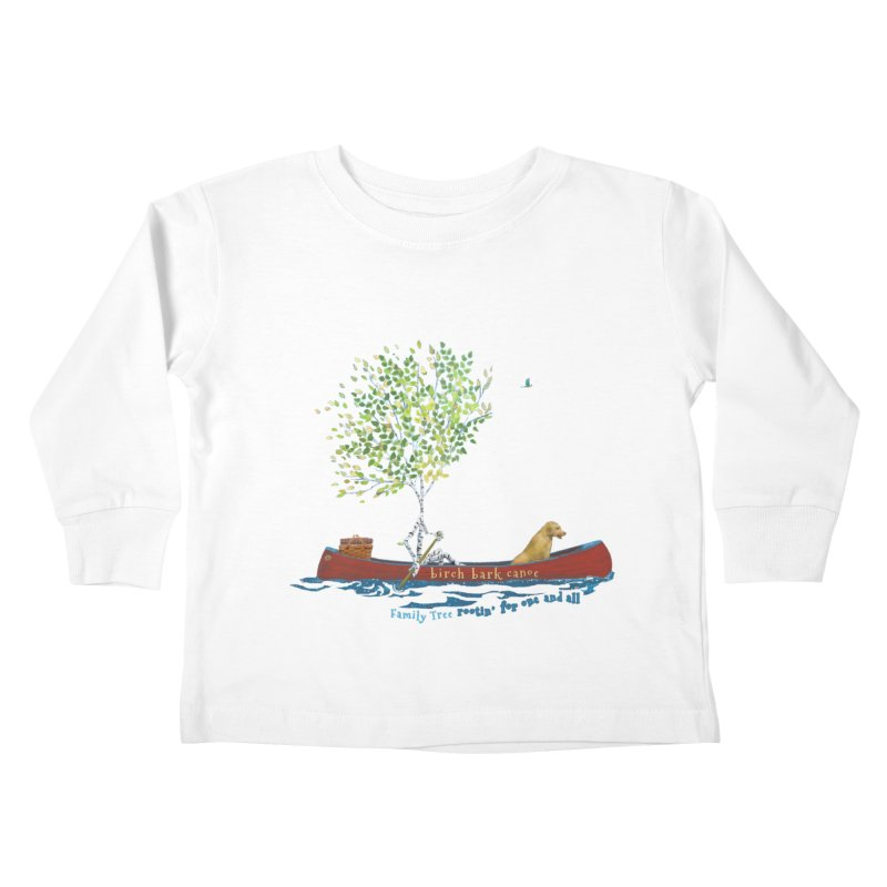 Birch Bark Canoe Kids Toddler Longsleeve T-Shirt by Family Tree Artist Shop