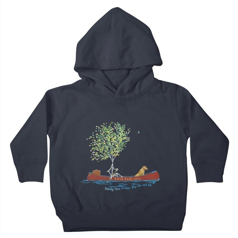 Birch Bark Canoe Kids Toddler Pullover Hoody by Family Tree Artist Shop