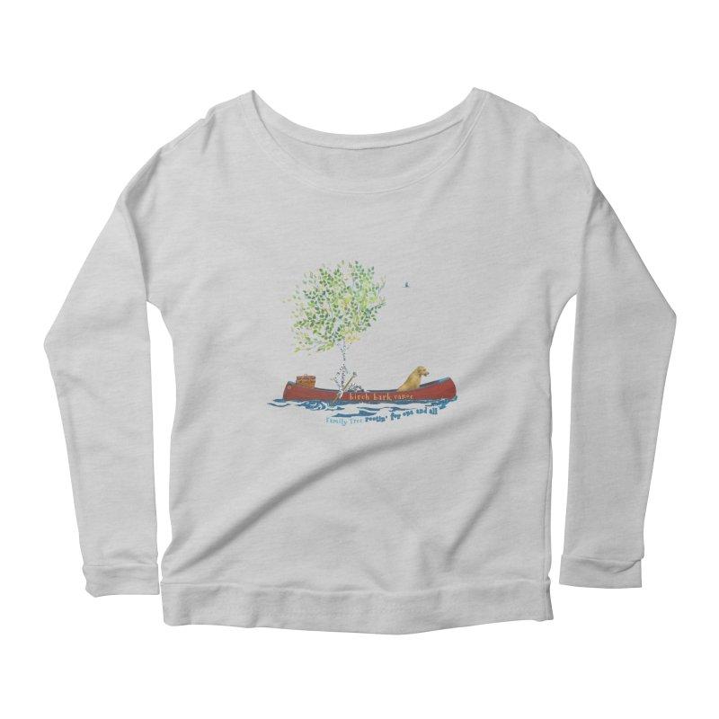 Birch Bark Canoe Women's Scoop Neck Longsleeve T-Shirt by Family Tree Artist Shop