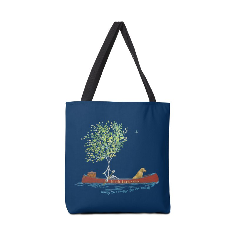 Birch Bark Canoe Accessories Tote Bag Bag by Family Tree Artist Shop