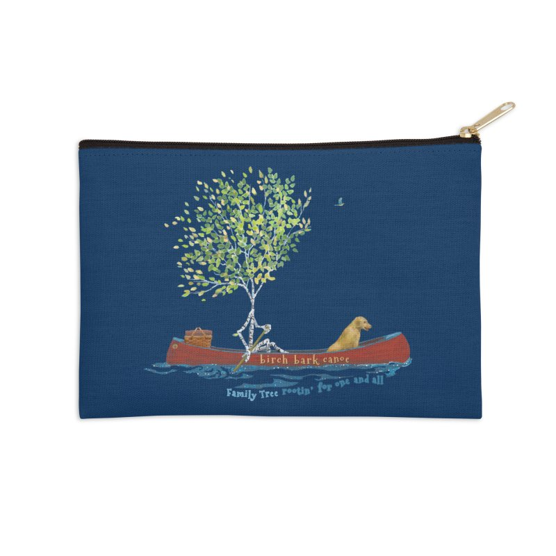 Birch Bark Canoe Accessories Zip Pouch by Family Tree Artist Shop