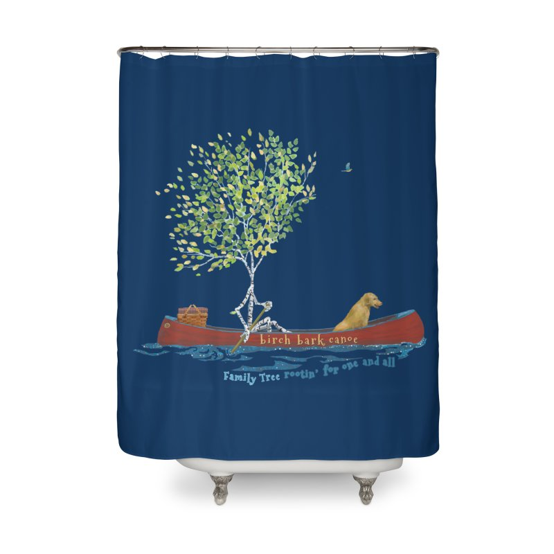 Birch Bark Canoe Home Shower Curtain by Family Tree Artist Shop