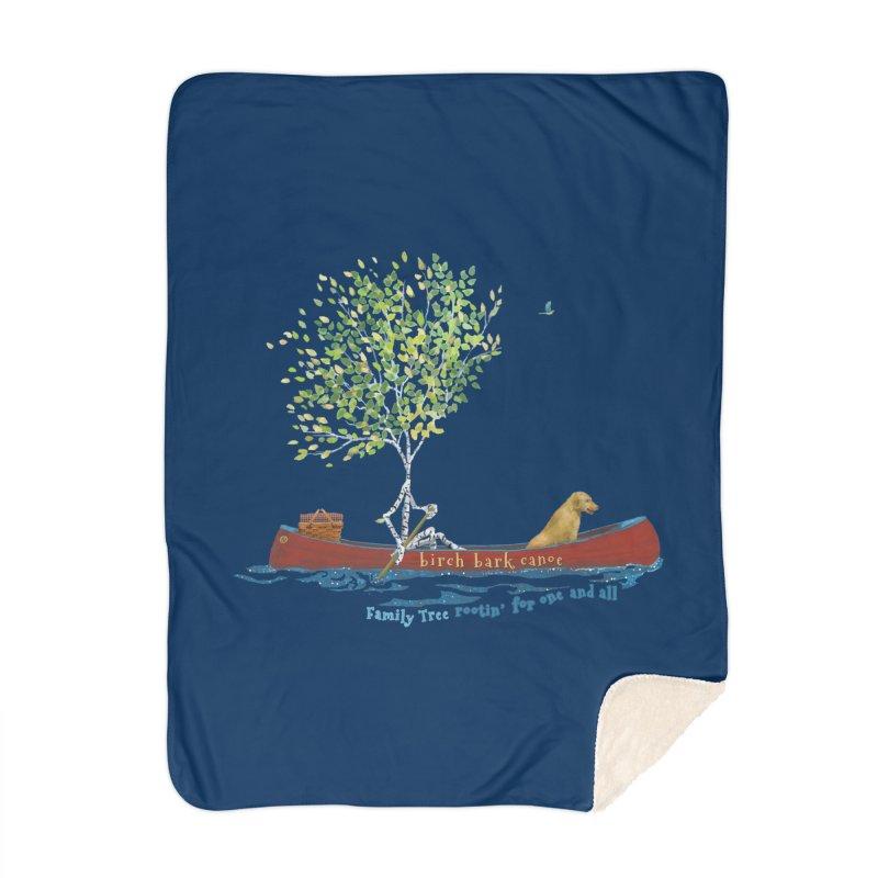 Birch Bark Canoe Home Blanket by Family Tree Artist Shop