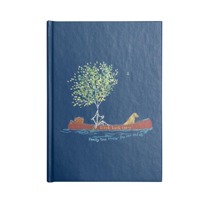 Birch Bark Canoe Accessories Blank Journal Notebook by Family Tree Artist Shop