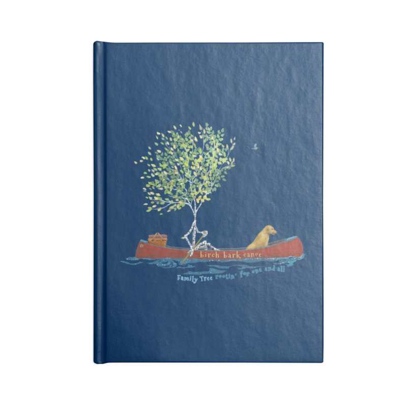 Birch Bark Canoe Accessories Lined Journal Notebook by Family Tree Artist Shop