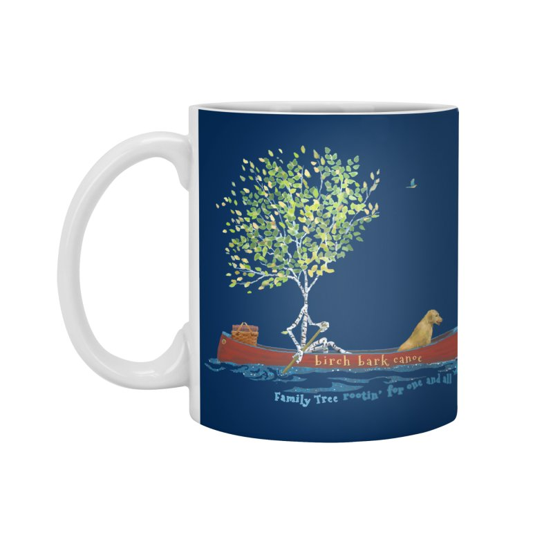 Birch Bark Canoe Accessories Standard Mug by Family Tree Artist Shop