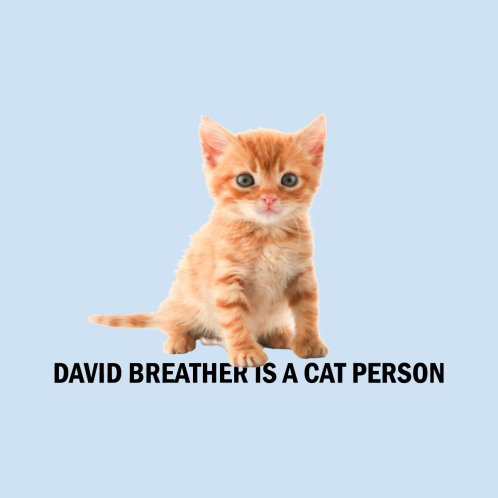 Design for David Breather is a Cat Person