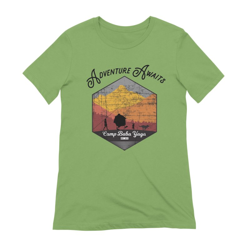 Adventure Awaits - Camp Baba Yaga - Herald's of Summer's Return Edition Women's Extra Soft T-Shirt by Fantastic Worlds Podcast  Shop