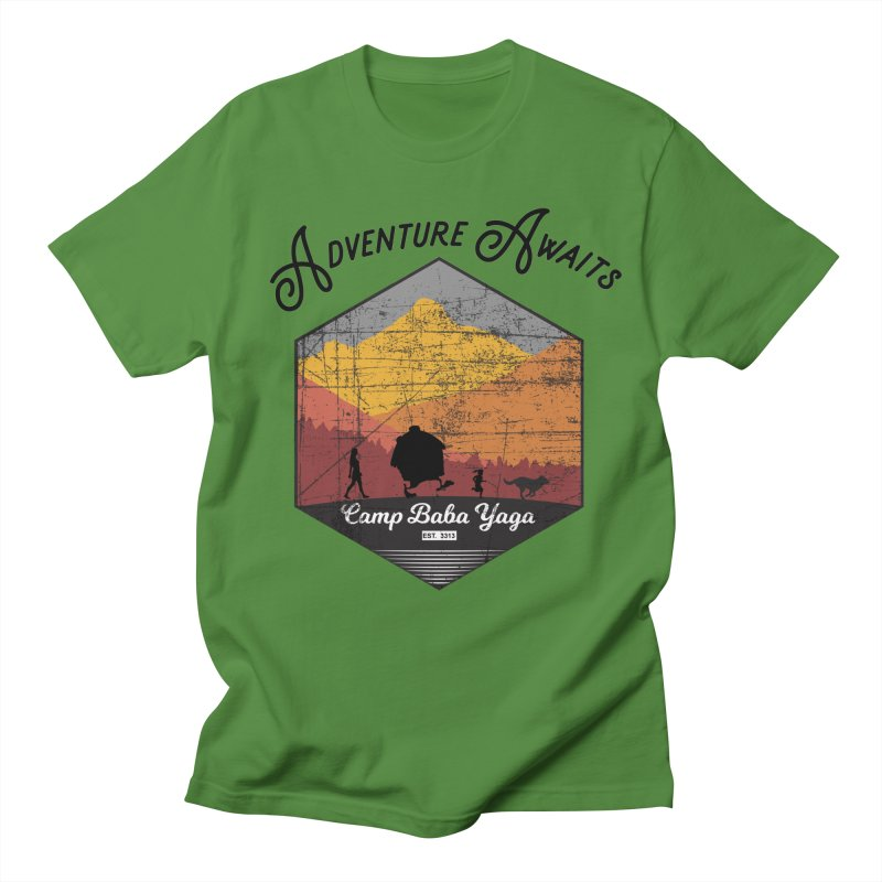 Adventure Awaits - Camp Baba Yaga - Herald's of Summer's Return Edition Men's T-Shirt by Fantastic Worlds Podcast  Shop