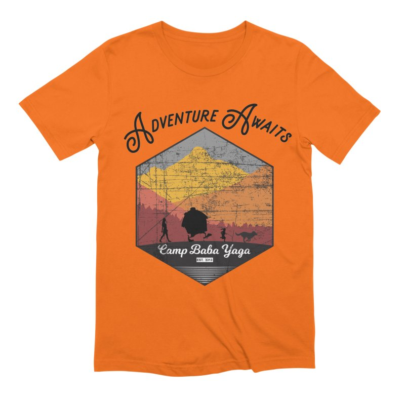 Adventure Awaits - Camp Baba Yaga - Herald's of Summer's Return Edition Men's Extra Soft T-Shirt by Fantastic Worlds Podcast  Shop