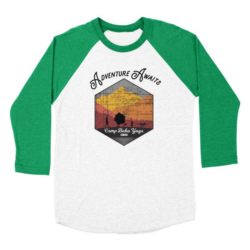 Adventure Awaits - Camp Baba Yaga - Herald's of Summer's Return Edition Men's Baseball Triblend Longsleeve T-Shirt by Fantastic Worlds Podcast  Shop
