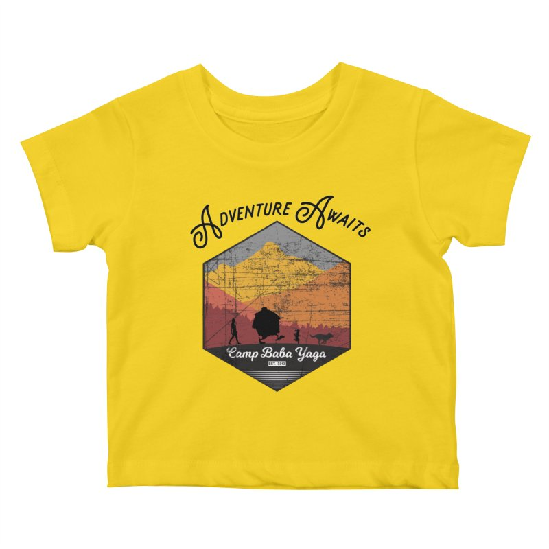 Adventure Awaits - Camp Baba Yaga - Herald's of Summer's Return Edition Kids Baby T-Shirt by Fantastic Worlds Podcast  Shop