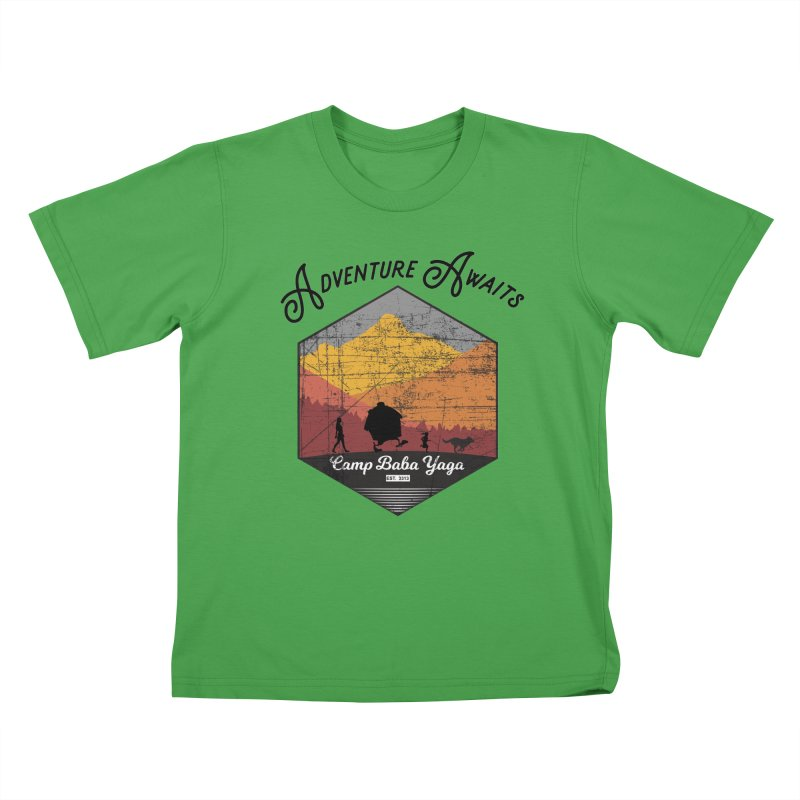 Adventure Awaits - Camp Baba Yaga - Herald's of Summer's Return Edition Kids T-Shirt by Fantastic Worlds Podcast  Shop