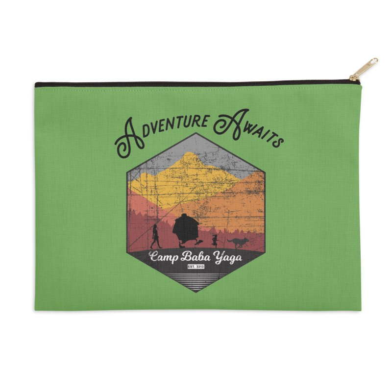 Adventure Awaits - Camp Baba Yaga - Herald's of Summer's Return Edition Accessories Zip Pouch by Fantastic Worlds Podcast  Shop