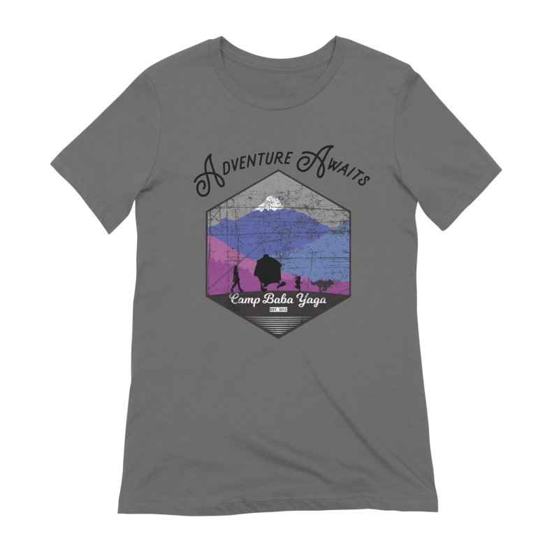 Adventure Awaits - Camp Baba Yaga - Winter Witch Edition Women's T-Shirt by Fantastic Worlds Podcast  Shop