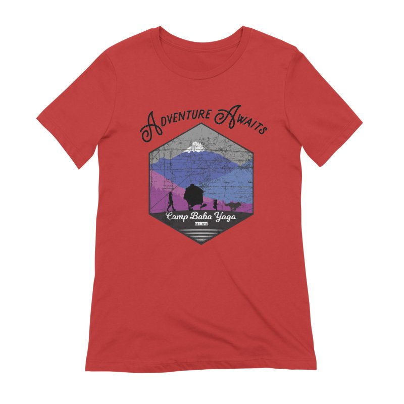Adventure Awaits - Camp Baba Yaga - Winter Witch Edition Women's Extra Soft T-Shirt by Fantastic Worlds Podcast  Shop